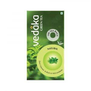 Amazon Brand - Vedaka Green Tea, Natural, 100 Bags