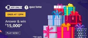 April 13 Amazon Quiz Ans and Win 15000