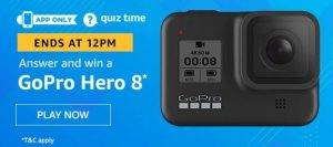 April 18 Amazon Quiz Ans and Win GoPro Hero8