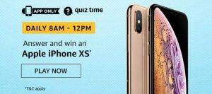 April 19 Amazon Quiz Ans and Win Apple iphone XS