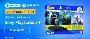 (15th May) Amazon Quiz Ans and Win Sony Playstation 4