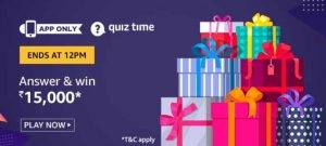 (21th May) Amazon Quiz Ans and Win 15,000