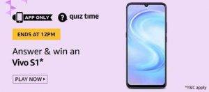(24th May) Amazon Quiz Ans and Win Vivo S1