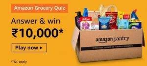 Amazon Grocery Quiz – Win ₹10,000 Amazon Pay