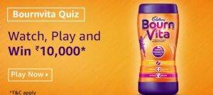 Amazon Bournvita Quiz – Answer & Win ₹10000 Pay Balance