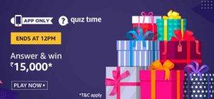 Amazon Quiz Ans and Win 15,000 (8th June)