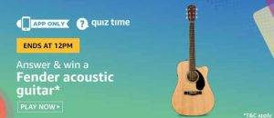 Amazon Quiz Ans and Win Fender Acoustic Guitar (6th June)