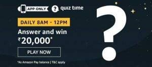 Amazon Quiz Answer and Win ₹20000 (15th June)