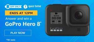 Amazon Quiz  Answers and Win Go pro hero 8 (26 June 2020)