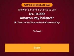 Amazon World Chocolate Day Quiz 1