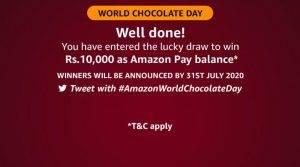 Amazon World Chocolate Day Quizc