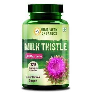 Himalayan Organics Milk Thistle Extract Silymarin 800MgServe - 120 Veg Capsules