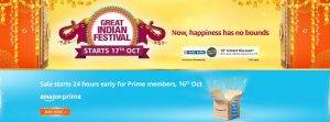Amazon Great Indian Festival Sale Starts 17th Oct