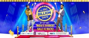 Flipkart Big Billion Days Sale to Start October 16
