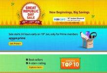Amazon Great Republic Day Sale 20th – 23rd Jan 2021