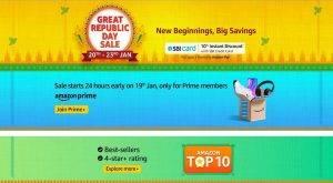 Amazon Great Republic Day Sale 20th – 23rd Jan 2021