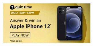 Amazon Quiz Today Answer - Win Apple iPhone 12 | 17th January 2021